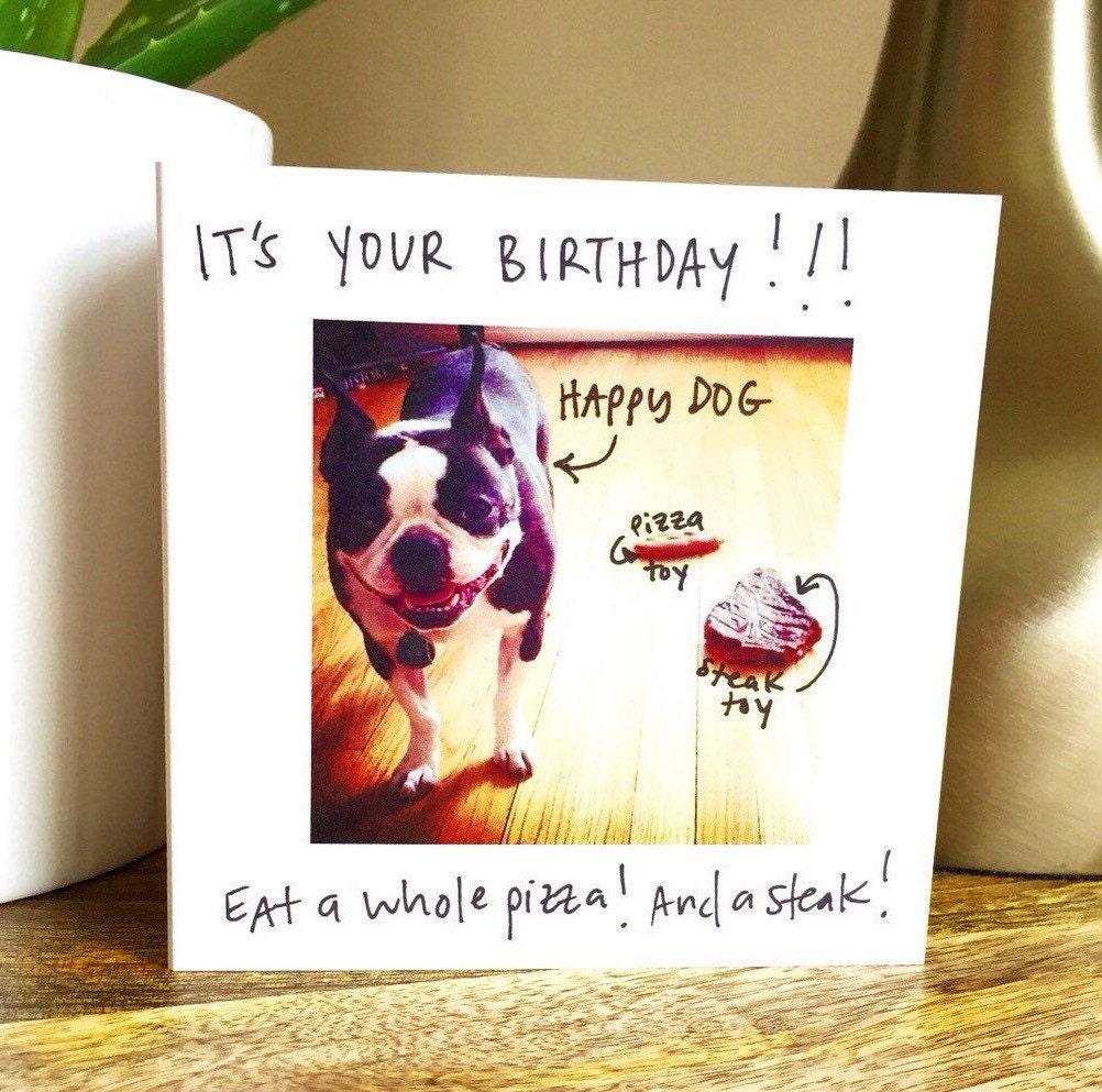 birthday card happy birthday card be happy dog card funny, Birthday card