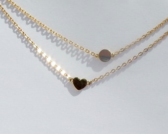 Handmade 9ct Disc Pendant with chain