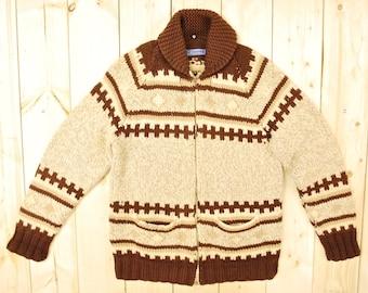 Vintage 1950's COWICHAN Sweater / Retro Collectable Rare