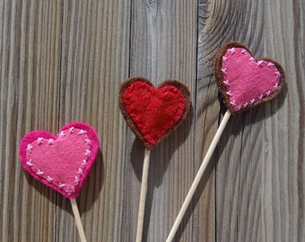 "cake/cupcake toppers ""hearts"""