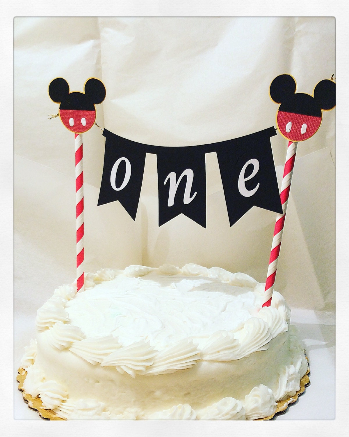 Mickey Mouse cake topper-Mickey mouse cake bannerphoto
