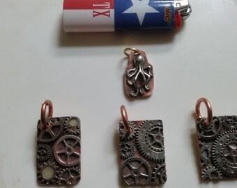 copper steampunk tag
