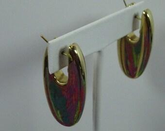Estate 14k Gold pierced earrings 9.0 gr