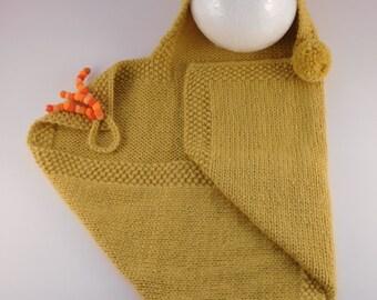 Baby Snuggle Wrap, 100% Baby Alpaca Baby Wrap with Hood, Knitted Wrap, Handmade Baby Wrap, Newborn Wrap, Soft Swaddle Wrap, Wrap with Hood