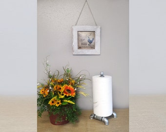 Industrial (Steampunk)  home decor galvanized pipe single paper towel holder