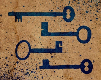 Skeleton Key Stencil