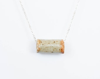 Ceramic Tube Bead Necklace