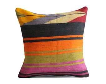Kilim Decorative Handmade Kilim Pillow Turkish Handmade Kilim Pillow Kilim Cushion Pillow Cover y66