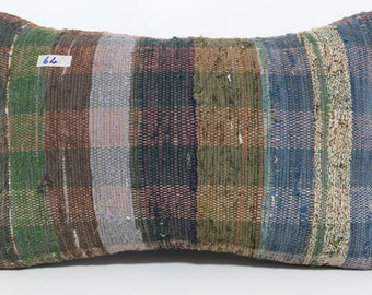kilim pillow 16x24 lumbar pillow 16x24 turkish pillow stripe kilim pillow bohemian pillow sofa pillow multicolor kilim lumbar SP4060-64