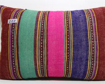 16x24 vintage turkish lumbar kilim pillow 16x24 anatolian hand woven lumbar kilim pillow decorative pillow cushion cover SP4060-222