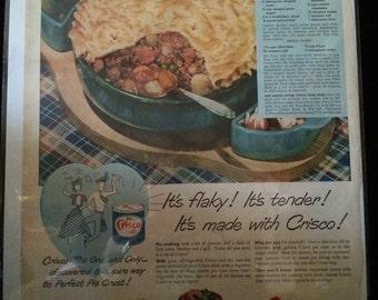 Vintage Ad.  Crisco. 1950's.