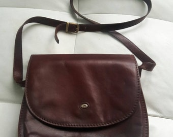 Di Berardino Marrone Vintage Tan Italian Shoulder Bag