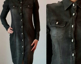 JOOP! Jeans Shirt Dress With Cameo Buttons