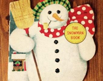The Snowman Book 1965 Vintage Retro Christmas