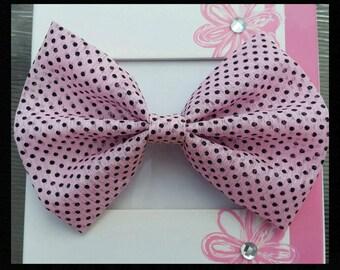 Chiffon fabric big polkadot bow