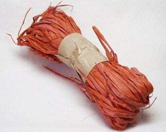 1 oz. Package of Raffia in Earthy Orange