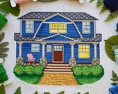Cute American House - Moderd Cross Stitch Pattern PDF. Instant Download. Sweet Home.