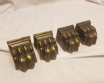 Lot of 4 Lion foot claw feet for early to mid 20th century  Duncan phyfe style table.