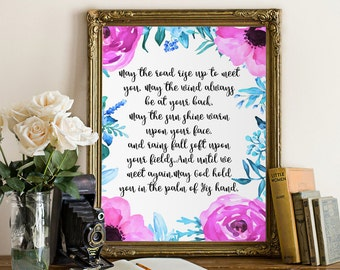 Irish Blessing Print,Quote Print, Nursery Art Decor, Baby Shower Gift, Baby