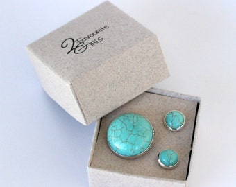 Turquoise Ring and Earring Set