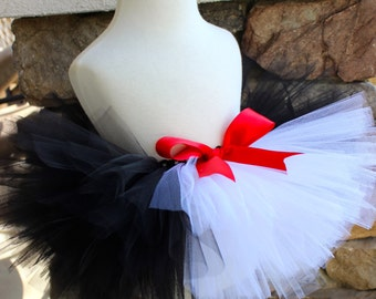 Cat in the Hat Tutu, Black and White Tutu, Penguin Tutu, Skunk Tutu, Halloween Tutu, Girl Halloween Tutu