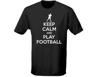 Keep Calm And Play Football Mens Funny T-Shirt (5 Colours)