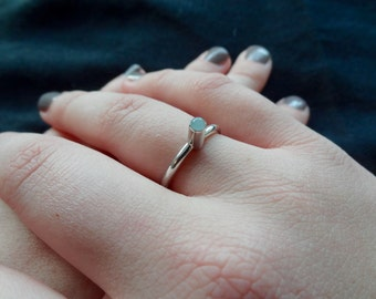 Free Shipping* Sterling Silver Ring & Aquamarine