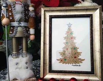 Christmas Tree _ Gold_ Gold Frame