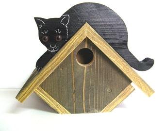 Black Cat Bird House Inv# BH-001