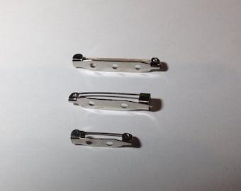 Brooch safety pin, forniture hardware set 10 PCs different measures 2cm 3cm 3, 3. 5cm, 8cm