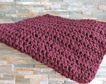 Bergundy Lap/Baby Blanket