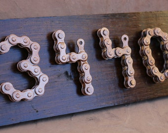 Upcycled House Numbers