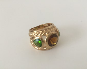 Gorgeous Gold Ring, Beautiful Lady's Ring, Stunning Ring, Trendy Ring.
