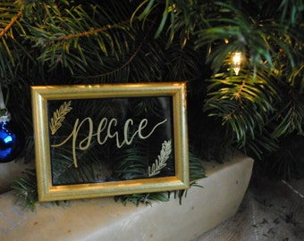 Peace - Hand Lettered Frame