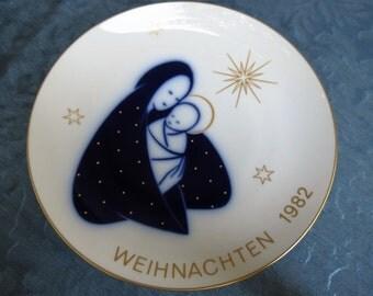 Christmas Plate - KPM Weihnachten Collectible Plate - 1982 Xmas