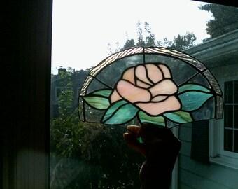 Pink rose fan lamp