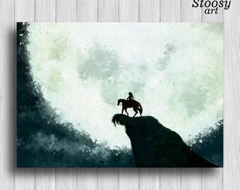 legend of zelda poster link on horse print nintendo game