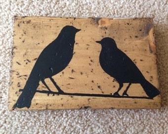 Bird pallet art