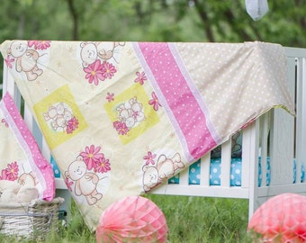 Nursery Bedding Set-Baby Bedding Set-Handmade Baby Bedding-Cot Bedding Set-Crib Bedding Set-Baby Duvet Cover-Baby Pillowcase-Made to order