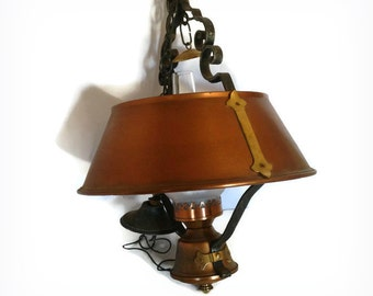 Copper Pendant Light | Vintage Pendant Lighting | Vintage Lighting | Vintage Lights | Antique Light Fixture | Vintage Light Fixture