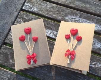 Mini Heart notelet cards