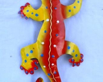 Gecko, Lizard, Iguana, metal sculpture (#gko305)