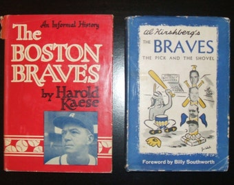 1940's Boston Braves Books, Both SIGNED by Players and Authors Including WARREN SPAHN (Hall of Famer)