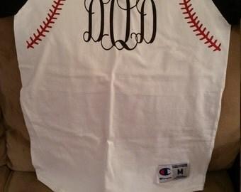 Baseball Shirt with Threads and Monogram