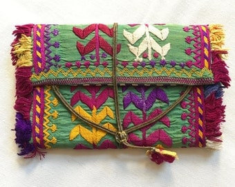 Vintage Embroidered Wallet: Afghanistan/Pashtun