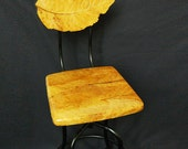 Hand-Crafted Tobacco Leaf Bar Stool (metal)