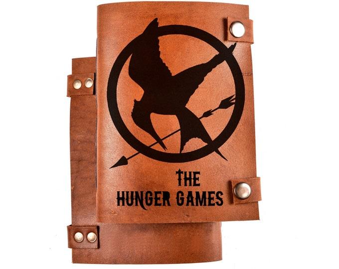 Hunger games - leather journal - mockingjay notebook - leather diary - gift for him - hunger games gift - mockingjay sketcbook - mockingbird