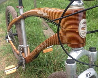 Bicycle handlebar handmade in laminated wood