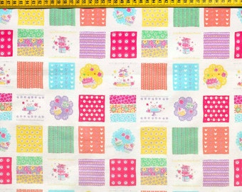 Kokka fabric with cake and glitter. SK040