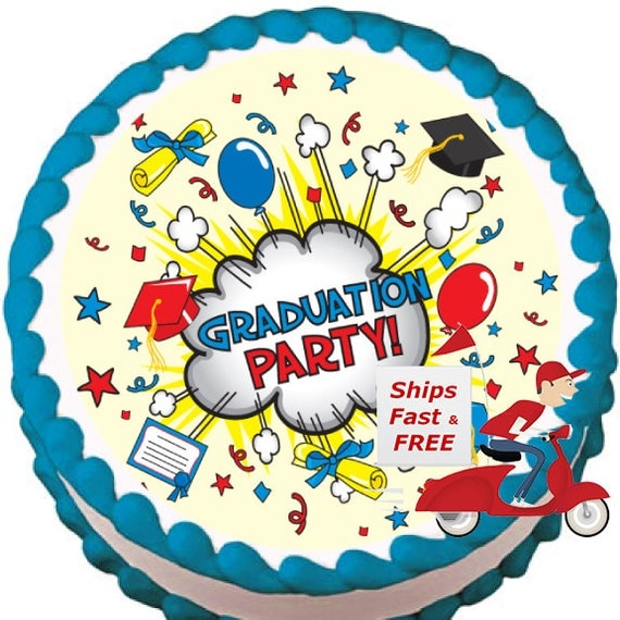 Edible Cake Images For Graduation : Graduation Party Edible Cake Topper Free by MyPartyHelpers ...